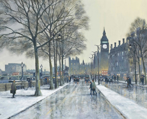 VICTORIA EMBANKMENT, LONDON by COLIN W. BURNS (B. 1944)